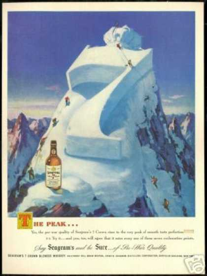 Snow Mountain Climbers Seagram's 7 Crown (1948)