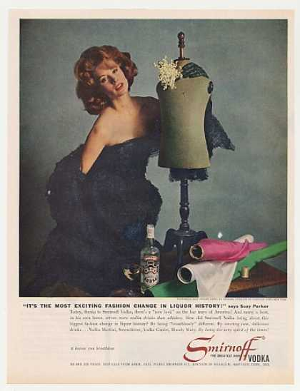 Suzy Parker Wears Dior Smirnoff Vodka Photo (1961)