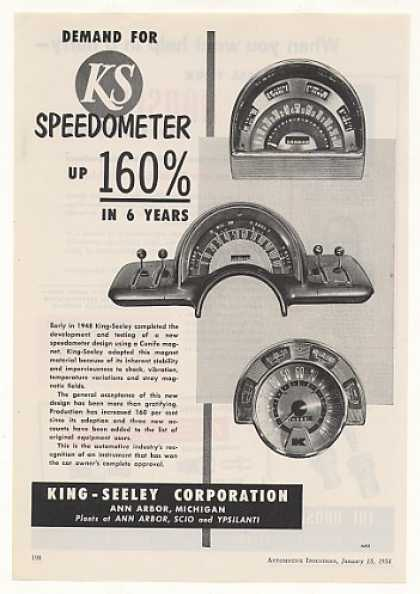 King-Seeley Auto Speedometer 3 Styles (1954)