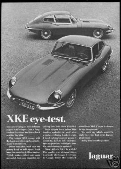 Jaguar XKE 2+2 & Coupe Photo Vintage Car (1968)