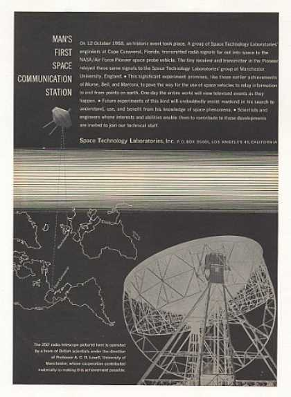 '59 Space Technology Lab Pioneer Space Communication (1959)