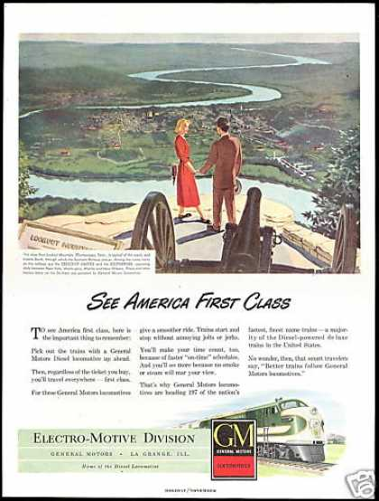 Lookout Mt Chattanooga Tennessee GM Locomotive (1948)
