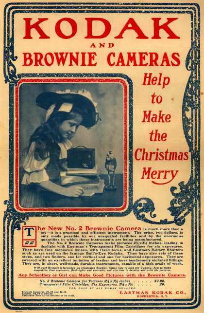 Kodak &#8211; Kodak and Brownie Cameras Help to Make the Christmas Merry (1901)