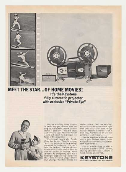 Ralph Kiner Keystone K-104AR Movie Projector (1963)