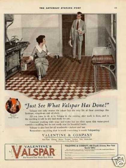 "Valentine's Valspar Varnish Ad ""Just See What... (1920)"