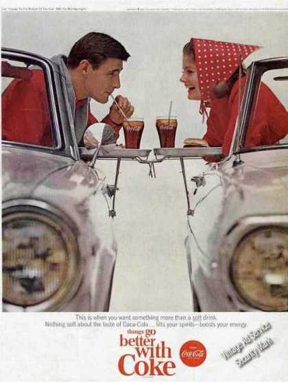 Coke Coca-cola Couple In Drive In Restaurant (1965)