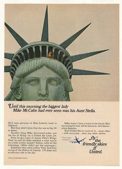Mike McCabe Statue of Liberty United Airlines (1967)