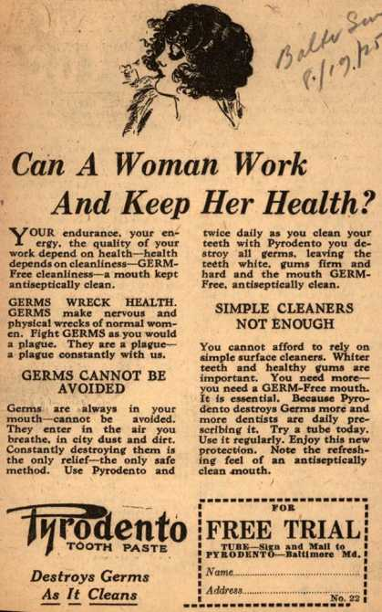 Pyrodento – Can A Woman Work And Keep Her Health? (1925)