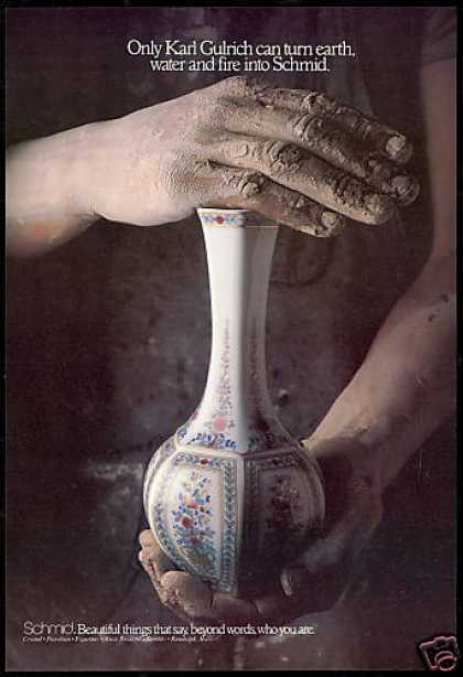 Schmid Porcelain Vase Photo Karl Gulrich (1979)