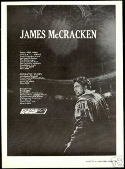 James McCracken Vintage Photo Opera Record (1966)