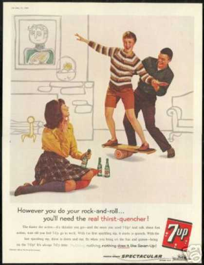 Balance Board Rock & Roll Vintage 7up 7 up (1960)