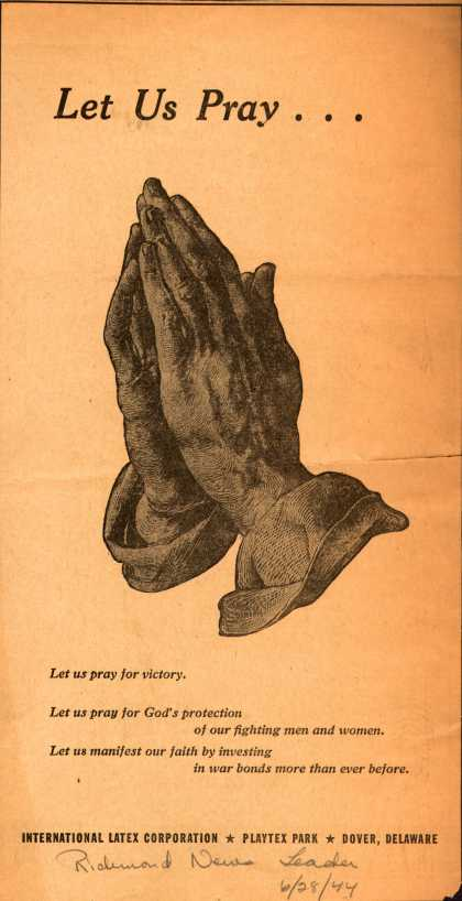International Latex Corporation's War Bonds – Let Us Pray... (1944)