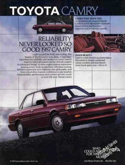"Toyota Camry ""Reliability Never Looked So Good"" (1987)"