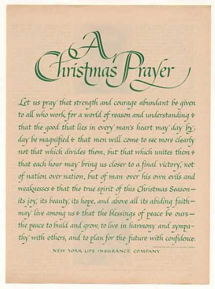 New York Life Insurance Christmas Prayer (1963)