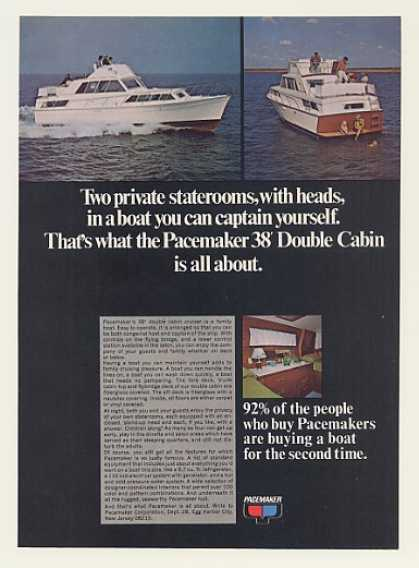 Pacemaker 38' Double Cabin Boat Photo (1969)