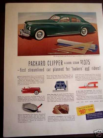 Green Packard Clipper 4-door Sedan Car (1941)