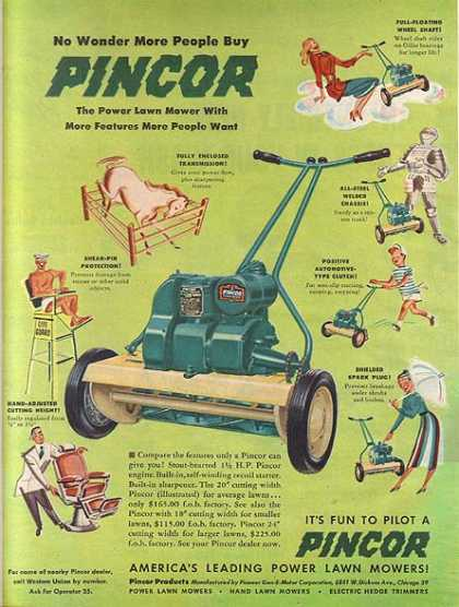 Pincor's Power Lawn Mower (1949)