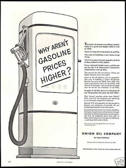 Union Oil Company Higher Gasoline Prices (1953)
