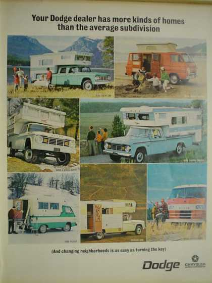 Dodge Trucks Camping More homes than the average subdivision (1967)