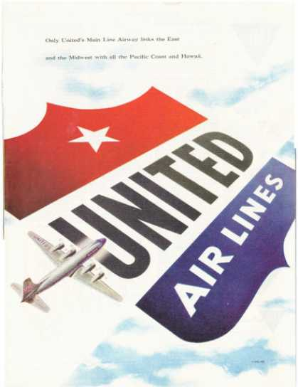 United Airlines Airplane (1952)