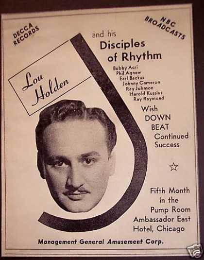 's Lou Holden and His Disciples of Rhythm Music (1940)