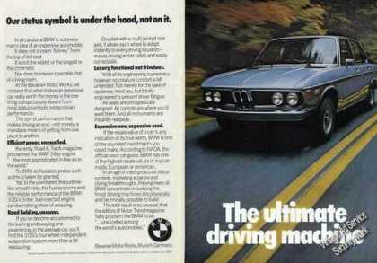 "Nice Bmw Photo ""Our Status Is Under the Hood"" (1975)"