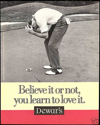 Golf Golfer Love It Dewar's Scotch Dewars (1997)