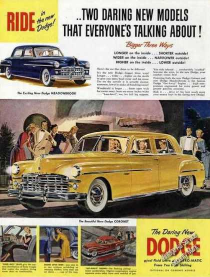 The Daring New Dodge Large Color (1949)