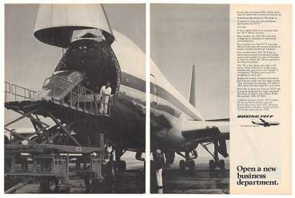 Boeing 747 F Cargo Airplane Aircraft Photo 2-Pg (1973)
