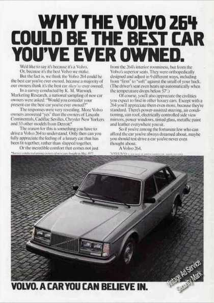 "Volvo 264 ""A Car You Can Believe In"" (1978)"