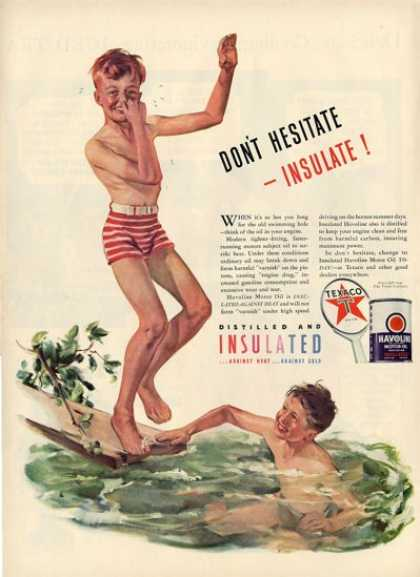 Texaco Young Boys Swimming Art T (1940)