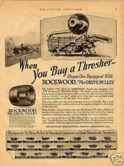 Rockwood Drive Pulley Ad Thresher (1923)