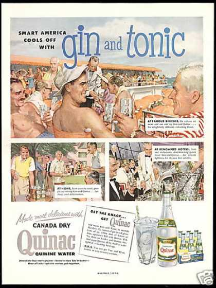 Canada Dry Quinac Beach Home Victor Kalin Art (1954)