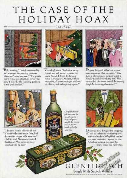 "Glenfiddich Scotch ""Case of the Holiday Hoax"" (1985)"