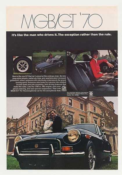 MG MGB/GT Man Who Drives Exception Rather Rule (1970)