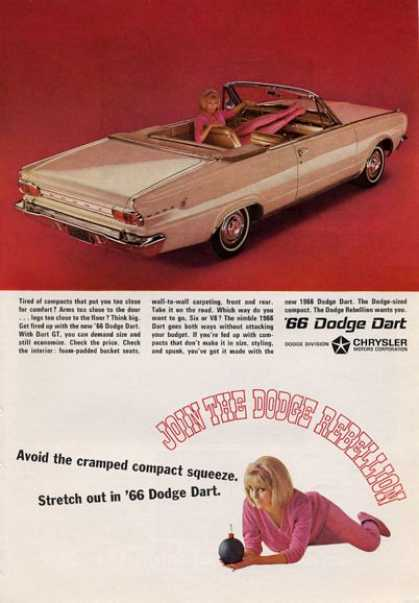 -'66 Dodge Dart Convertible Beige Great (1965)