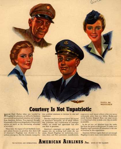 American Airlines – Courtesy is Not Unpatriotic (1944)