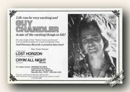 Guy Chandler Photo New Artist Music Promo (1973)