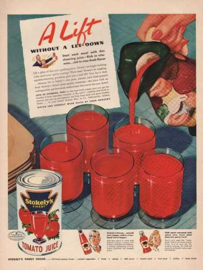 A Lift Without a Let Down Stokelys Tomato (1942)