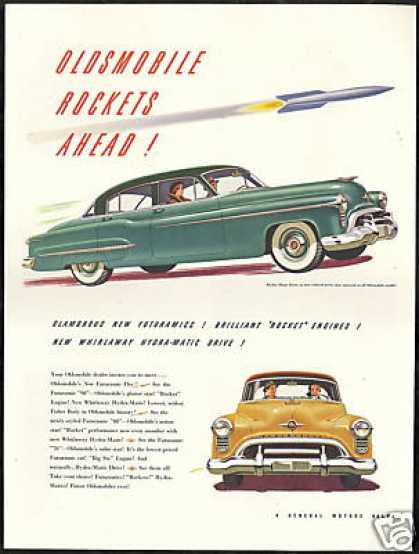 Oldsmobile 88 & 98 Vintage Print Car Rocket (1950)