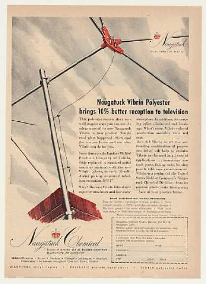 Naugatuck Chemical Vibrin TV Antenna Insulator (1951)