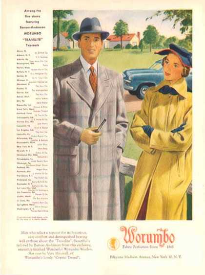 Barron-Anderson Worumbo Travelite Topcoats &#8211; Sold (1948)