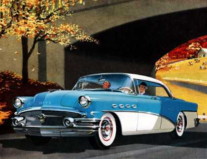 Buick Super four-door Riviera New Boulevard Ride – even on the byways (1956)