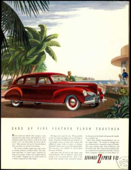 Lincoln Zephyr V-12 V12 Car Vintage (1940)