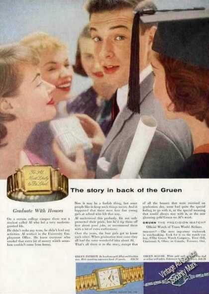 """Gruen Watches """"The Story In Back"""" (1955)"""