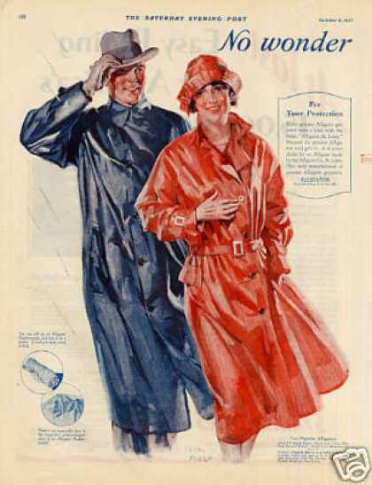 Alligator Raincoats Color Ad 2 Page (1927)