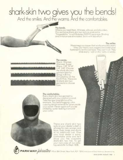 Parkway Shark Skin Two Diving Diver Wet Suit (1969)