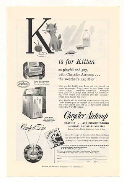 Chrysler Airtemp Air Conditioning K for Kitten (1953)