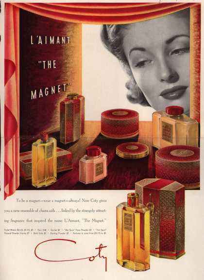 "Coty's L'Aimant ""The Magnet"" – L'Aimant ""The Magnet"" (1939)"