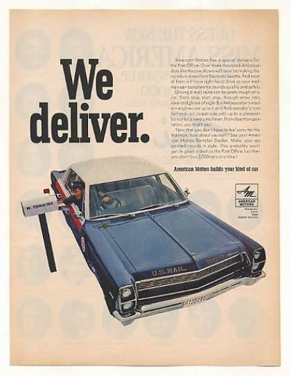 AMC Ambassador US Mail Delivery Car Photo (1967)